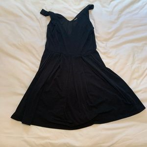 Basic Black V-Neck Dress, size medium